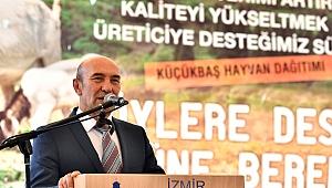 İzmir Belediyesi Üreticilere 126 Adet Küçükbaş Hayvan Hibe Etti