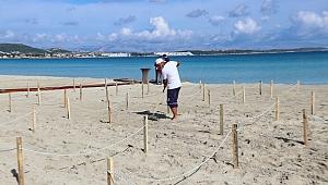 Ilıca Plajı'nda Sosyal Mesafe Locası