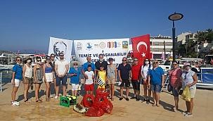 İzmir'in Dip ve Kıyı Temizliğine Gönüllü Destek