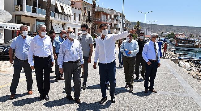 İzmir Valisi Köşger, Foça'da Turizm Yatırımlarını İnceledi