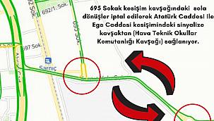 İzmir Sarnıç'ta Yeni Yol Düzenlemesi