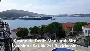 Çeşme'de Deniz Manzaralı Site İçerisinde Satılık 2+1 Rezidans
