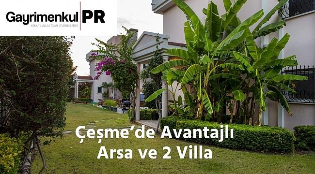 Çeşme'de Satılık 1200 m2 Arsa İçinde 2 Villa