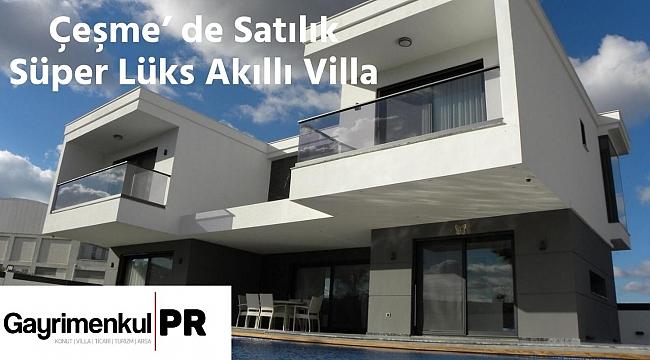 Çeşme' de Satılık Süper Lüks Akıllı Villa