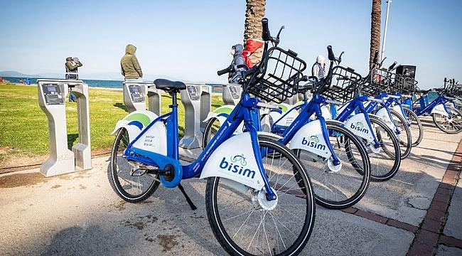 İzmir'de bisiklet istasyonları 55'e yükseldi