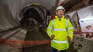 Narlıdere Metrosunun İlk Tüneli Tamamlandı