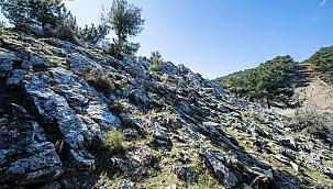 Smyrna antik kentinde taş ocağı